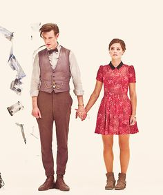 """Hold my hand Doctor!""  ""But Clara, I'm 1,005 years old I can cross the street without a Nanny."" ""No Doctor, no you can't."" ""Ok."" *slump slump slump*"