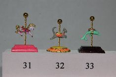 Items similar to Dollhouse Miniature Carousel Stand Figurine Kit- or scale- choose from 33 animals on Etsy Miniature Dollhouse Accessories, Thing 1, Paint Line, Trash To Treasure, Cool Paintings, Ball Jointed Dolls, Gold Beads, Vintage Paper, Carousel