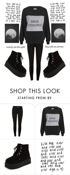 """""""First legit set! 👏"""" by marina-hxpe ❤ liked on Polyvore featuring River Island, ElevenParis, All Day and Love Quotes Scarves"""