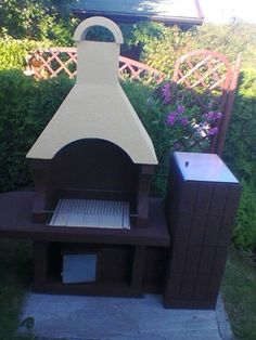 betonowy grill ogrodowy grill wędzarnia dwa w jedn