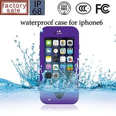 iPhone 6 Plus (5.5 Inch) Case, Afranker Stand Case Waterproof Case Underwater Waterproof Shockproof SnowProof DirtProof DustProof Durable Full Sealed Protection Case Cover with Kickstand for for iPhone 6 Plus Purple