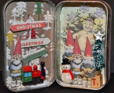 I am... Dreaming of Castles: Altered Christmas Elf Tin