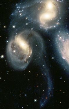 Star Clusters Born in the Wreckage of Cosmic Collisions NASA/ESA Hubble Space Telescope of the group of galaxies called Stephan's Quintet has provided a detailed view of one of the most exciting star forming regions in the local Universe. Cosmos, Hubble Space Telescope, Space And Astronomy, Telescope Craft, Universe Drawing, Nasa Pictures, Telescope Pictures, Milky Way, Stars