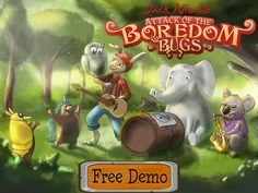 Bounce armadillos, bowl porcupines, and fly owls to defeat the invading Boredom Bugs.