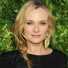 Friday: freshly washed hair. Saturday: chic loose braid (dressed up with big earrings at night). Sunday: tousled waves. What's not to love? Diane Kruger: Unstructured Braid: Beauty: Hair Trend: Red Online