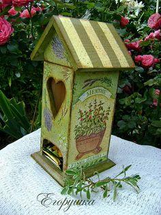 Купить Чайный домик для хранения пакетиков Ароматные травы - чайная коробка, чайная шкатулка