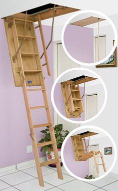 Escada Retrátil de Madeira FergonTop