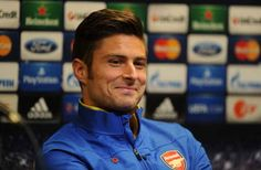 This is Olivier Giroud, a French footballer who plays for Arsenal FC.