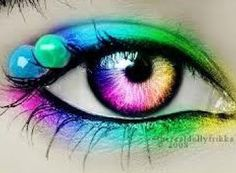 Rainbow eye contacts