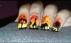 This nail art is inspired by the African Safari, in the Southern Africa captivates everyone who is lucky enough to experience its power and magic. The concept of 'Safari' conjures up images of adventure, dramatic landscapes and exciting wildlife.