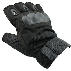 Dealzip Inc® Fashion Black Outdoor Sports Military Tactical Airsoft Hunting Riding Cycling Half-finge Gloves (Size: L) Dealzip Inc