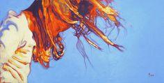 "Windblown,18"" X 36"", oil on canvas, original art is sold"