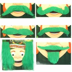 Dress us as a fun leprechaun with these leprechaun mustaches and sideburns.  Even the sideburns can be a bushy mustache and showing off your green mustashe will surely make you an Irish hit.  Our selection of great Saint Patrick's day decorations is second to none.  We have everything from the classic shamrock shapes to fun and elaborate decorations that will liven up any party.