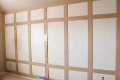 DIY paneled wall tutorial
