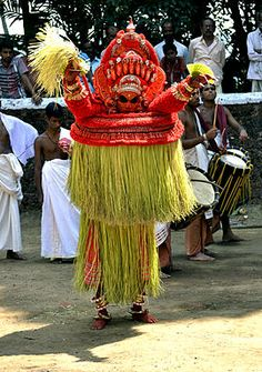South India, kerala ~ Vishnumoorthy Theyyam