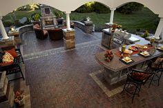 Award Winning Outdoor Living Design, Entertainment Area, Brick Paver Patio