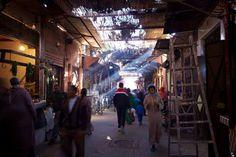 Marketplace in Marrakech, Morocco (market, souq, souk, Marrakesh)