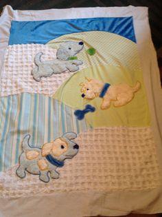 Puppy quilt by PrettyCraftybyLinda on Etsy