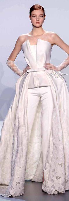 Spring 2014 Monochromatic trend & Crisp Clean White trend Ralph & Russo Spring 2014 Haute Couture