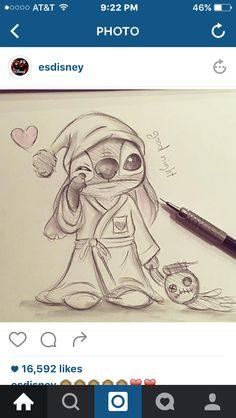 Cute stitch sketch