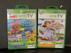 Leap Frog LeapTV Game Lot -  Disney Sofia the First & Bubble Guppies 3-5 Years