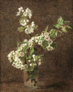 Apple Blossoms by Henri Fantin-Latour (French, 1836–1904)