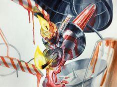 #기초디자인#개체묘사#투명체#금속질감#유리묘사#유리질감#화면구성#원근감#디자인선수#엔파인#아이엠#design#초#양초 Kelsey Beckett, Bottle Drawing, Unique Art, Perfume Bottles, Illustration, Surrealism, Inspiration, Composition, Sketches