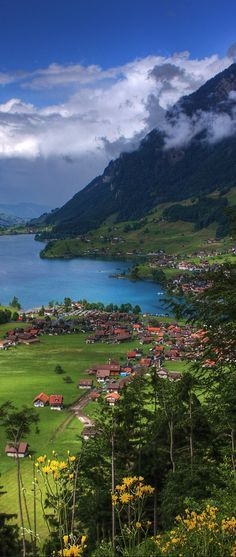 Lake Lungern ~ located in the canton of Obwalden in Switzerland