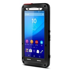[$17.15] LOVE MEI Dustproof Shockproof Anti-fall proof Metal Protective Case for Sony Xperia Z3+(Black)