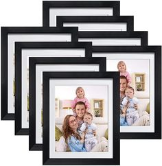 Multi Picture Frames, Picture Frame Sets, 10 Frame, Picture Sizes, Frame Wall Collage, Gallery Wall Frames, Table Top Display, Retro Color, Wall Decor
