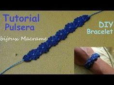 bijouX Macrame - Tutorial n#8 Pulsera / DIY Bracelet macrame - YouTube