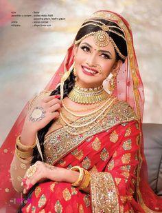 Bridal Makeup Looks, Indian Bridal Makeup, Indian Bridal Wear, Bridal Looks, Indian Wedding Bride, Desi Bride, Indian Weddings, Indian Bridal Hairstyles, Veil Hairstyles