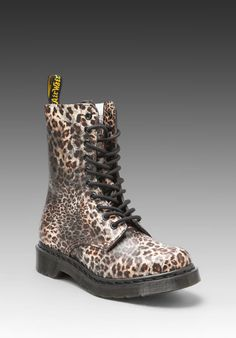 DR. MARTENS 1490 10 Eye Boot in Leopard Print at Revolve Clothing