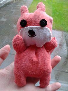 DIY stuffed animal made from old socks!