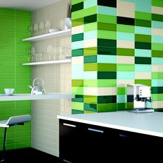 LOFT COLLECTION - bevelled glossy subway tile, 10x30, available in 11 different colours. #maharanitiles #subwaytile #bevelled #kitchen #bathroom #backsplash #walltiles #design