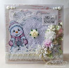 Created by Mandy for the Simon Says Stamp Wednesday challenge (Let it Snow) December 2013