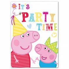 Peppa Pig And George Party Invitations. More Peppa Pig party supplies at allyouneedtoparty.co.uk