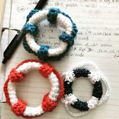 Mini Life Saver - free crochet pattern by Olena Huffmire Designs.