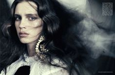 marine vacth photographed by paolo roversi & styled by jacob k. for vogue italia, october 2012