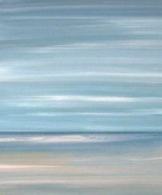 Beach art, beach ocean artwork, beach art print, abstract beach painting by Francine Bradette-FREE S