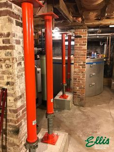 110 Year Old Colonial Floor Leveling Project With Ellis Steel Shores Home Remodeling Diy, Basement Remodeling, Home Renovation, Old Basement, Basement Ideas, Foundation Repair, Diy Home Repair, Timber Flooring, Home Repairs