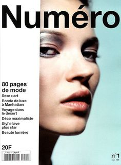 Numero Cover March 1999 - Kate Moss by Nathaniel Goldberg Magazine Cover Layout, Magazine Front Cover, Fashion Magazine Cover, Magazine Covers, Magazine Spreads, Kate Moss, Editorial Layout, Editorial Design, Editorial Fashion