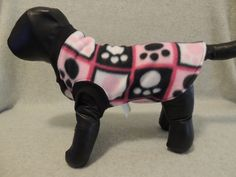 X Small Fleece Dog T Shirt Paws in Blocks by favorite4paws on Etsy