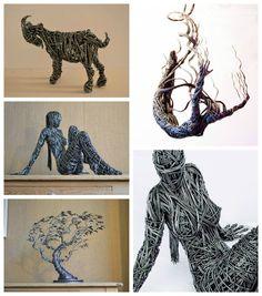 Wire Sculpture by Richard Stainthorp #Art, #Sculpture, #Wire