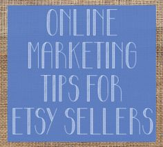 VENDOR ADVICE ALERT! Great advice for getting your Etsy business noticed.