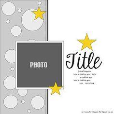 Paper Issues Online Scrapbook Store & More! Scrapbook Layout Sketches, Scrapbook Templates, Scrapbook Designs, Card Sketches, Scrapbook Paper Crafts, Scrapbooking Layouts, Online Scrapbook, Disney Scrapbook, Baby Scrapbook