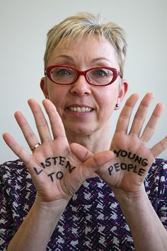 Lesley Hagger, Director of Children's Services at Leicestershire County Council supporting CSE Awareness Day