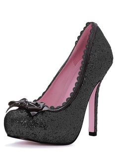 Black Glitter High Heels #Sexy #Halloween #Shoes