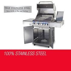 Outdoor Grill BBQ - 5 Burners Stainless Steel - BBQs