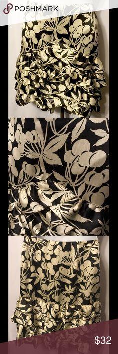 Selling this TIBI NEW YORK Black Silver Cherries Silk Skirt on Poshmark! My username is: gypsyhoneys. #shopmycloset #poshmark #fashion #shopping #style #forsale #Tibi #Dresses & Skirts